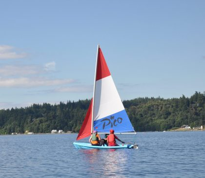 Kiwanis Camp in Sail Boats at Camp Sealth