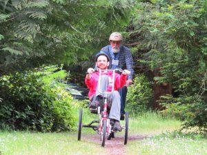 Adaptive bikes at Special Family Camp