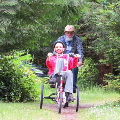 Adaptive bikes at Special Family Camp