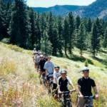Campers biking