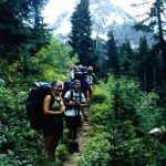 Group on hiking trail