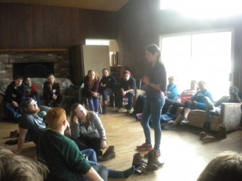 Teen Leaders at Retreat