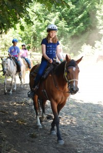 horseback riding at Camp Sealth