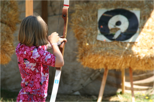 girl archer at Camp Niwana