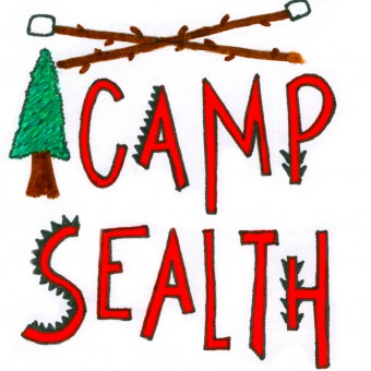 Camp Sealth Sticker with Tree and Marshmallow Sticks