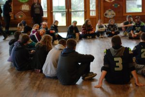 Teen Leaders in a Workshop Discussion