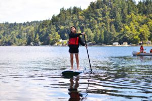 Paddleboarding at Camp Sealth