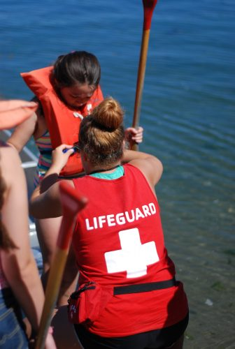 Lifeguard with Camper