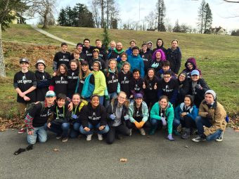 Teens who volunteered for MLK Day of Service