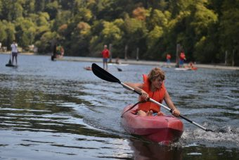 canoeing teen