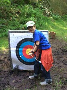 Ethan at Archery