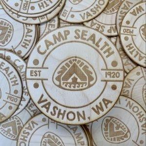 Wooden Camp Sealth Sticker