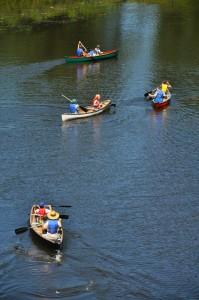 Canoes at Blyth Park