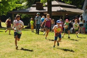 Day Campers running at Blythe Day Camp