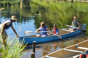 Canoeing at Blyth Day Camp