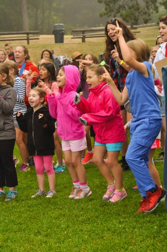Campers Singing at Carkeek