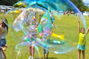 Giant bubbles at Day Camp