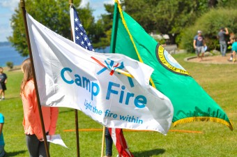 Camp Fire Flag