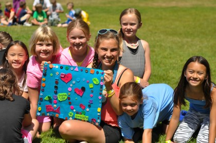 Day Campers with counselor