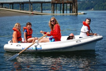 Camp Sealth Campers on Row Boat