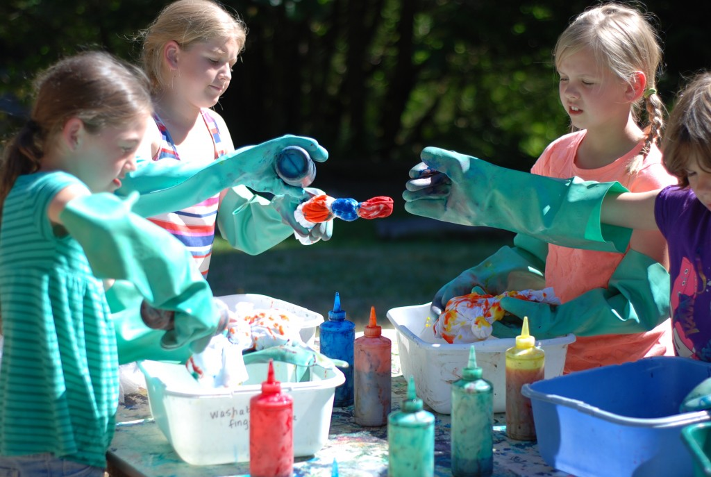 campers tie dye arts and crafts