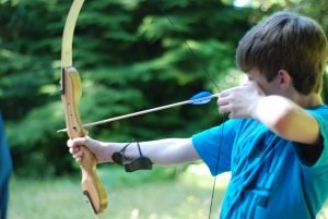 Camper at archery
