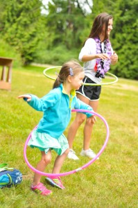 Hans Jensen Day Camp Hula Hooping
