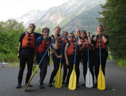Campers on adventure trip