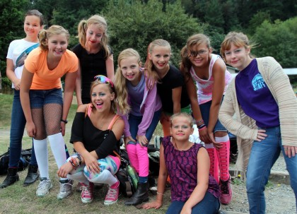 campers and counselor