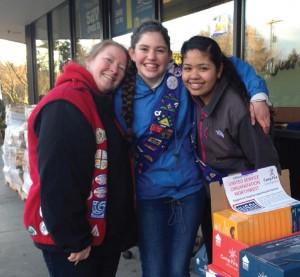 Madisen, Friend Emma, and Group Leader Hanna