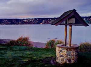 Camp Sealth Wishing Well at Sunset