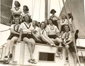 Historical Camp Sealth boating girls