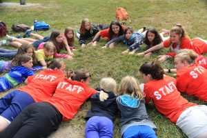 Camp Staff playing with kids