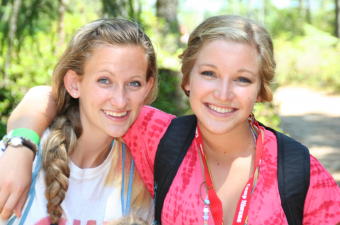 Two older girls at Camp Niwana